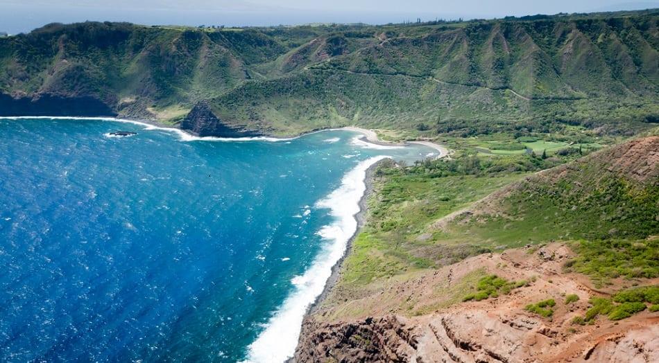 Molokai beach and mountains