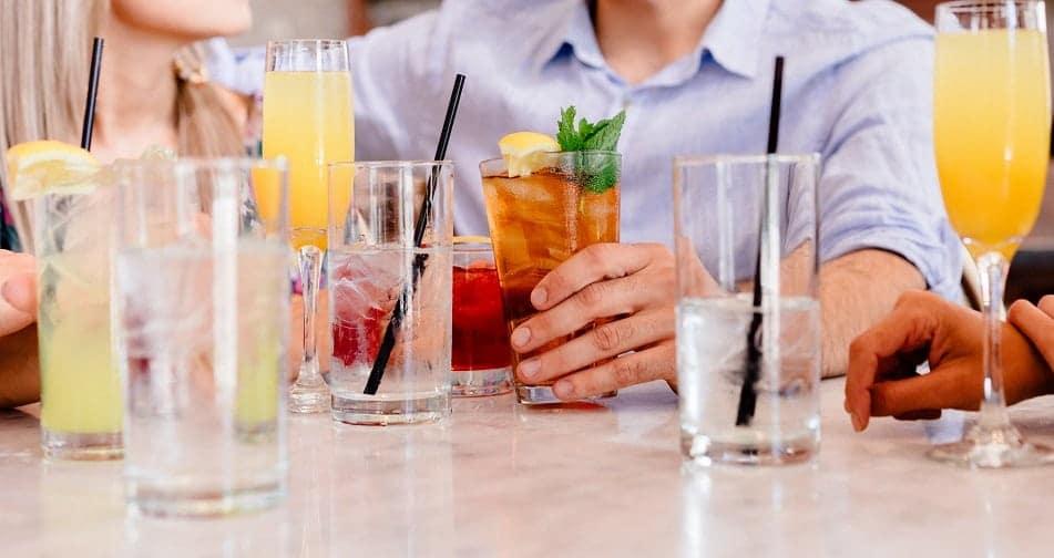 variety of drinks