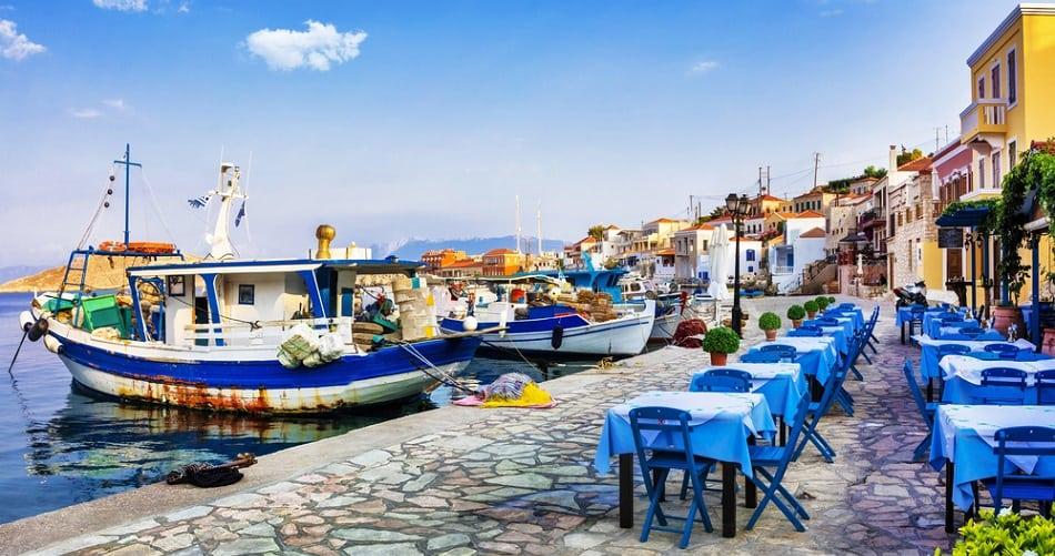 charming greek island