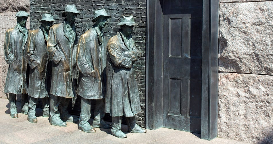 great depression sculpture