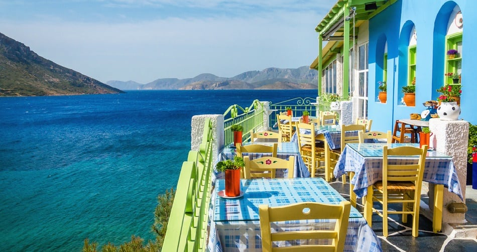 long lunch in greece