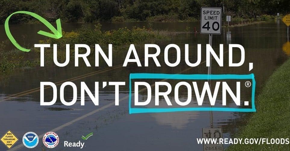 turn around in a flood