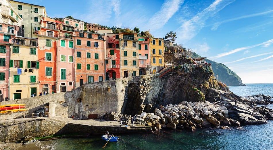 Riomaggiore in Cinque Terre National park, Italy
