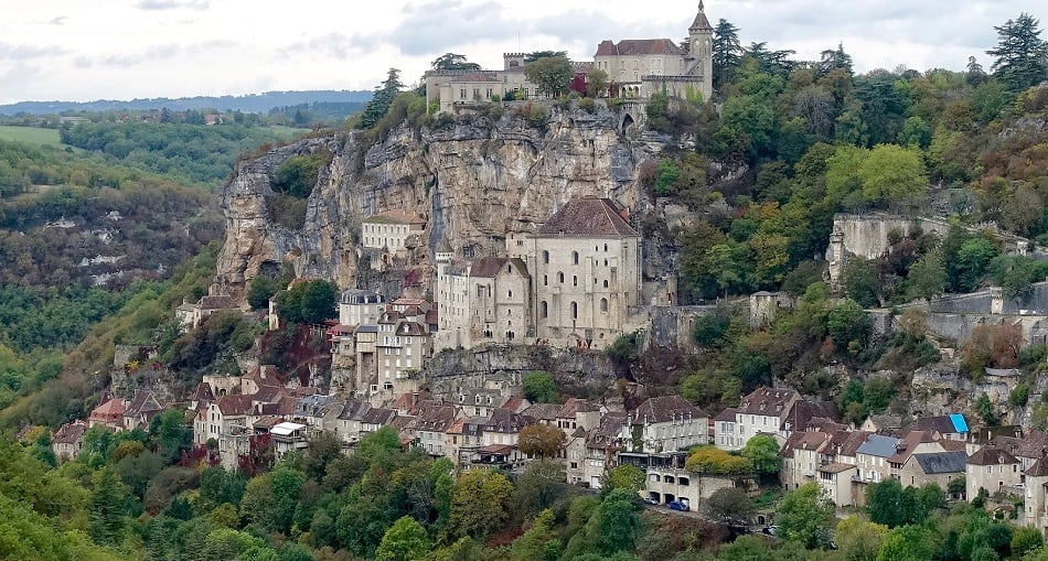 Medieval city of Rocamadour in France.