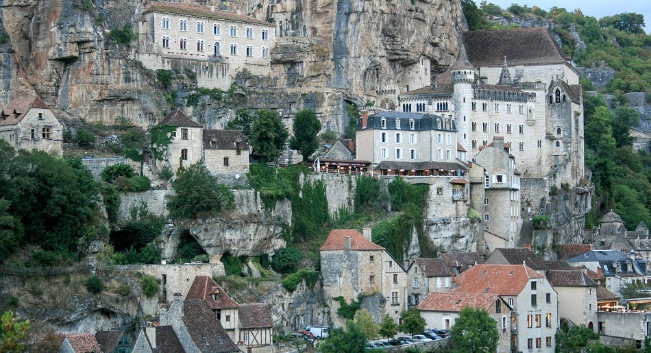 Rocamadour village in Southwestern France