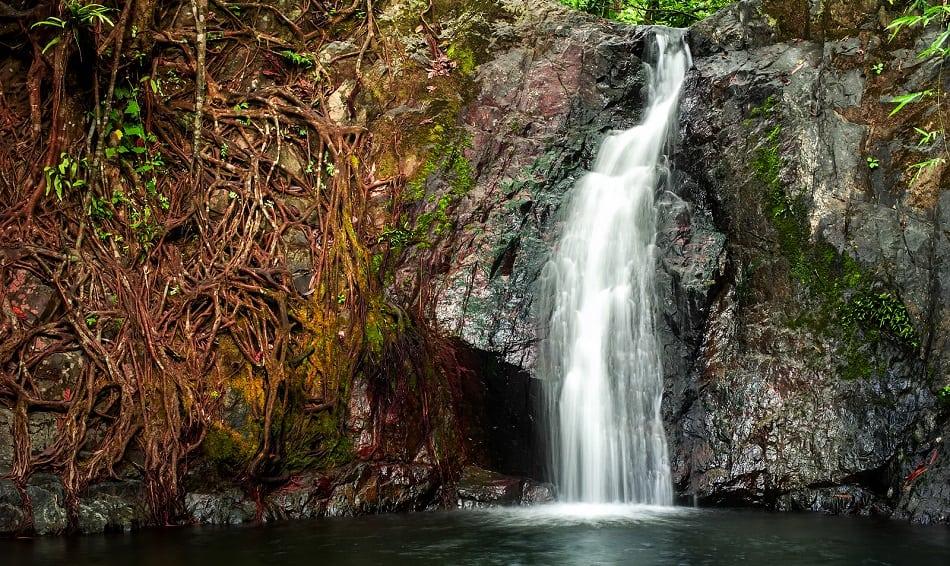 small waterfall laos