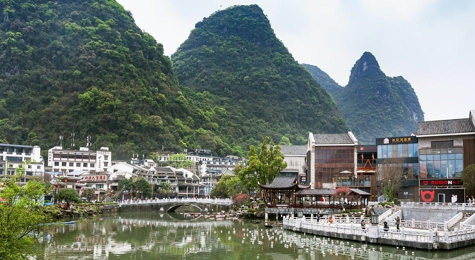 Waterfront Yangshuo Town
