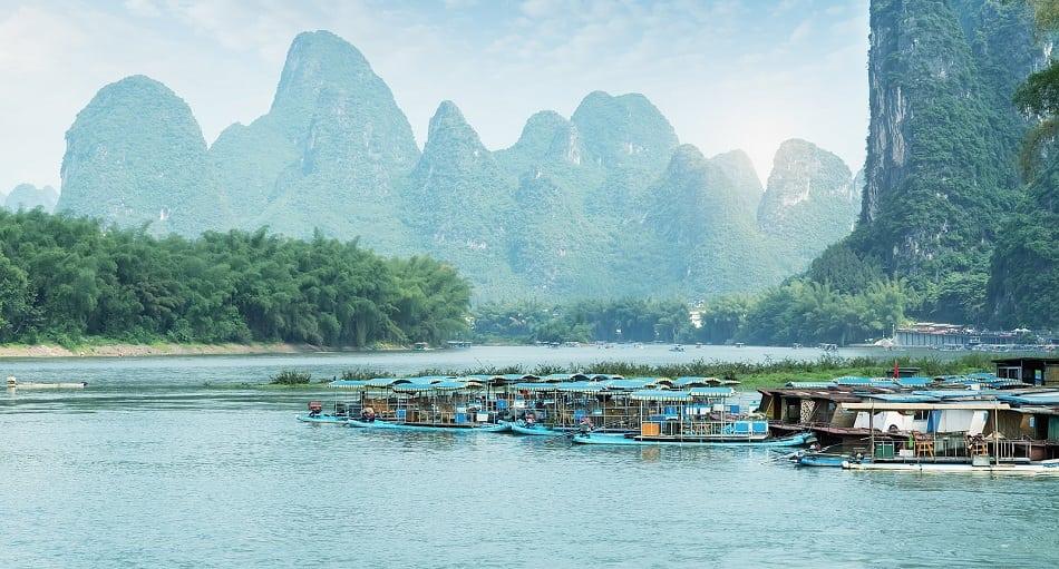 landscape in Yangshuo Guilin