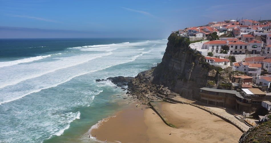 on the cliff in Sintra Lisbon Portugal Europe. Most beautiful iconic