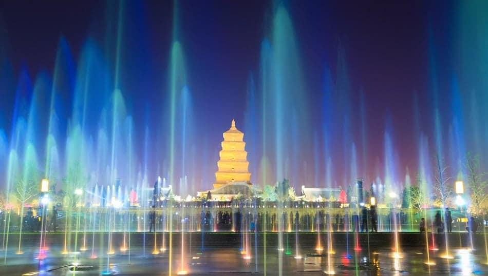 big wild goose pagoda in Xian China