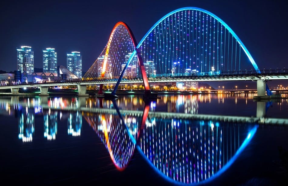 Expo Bridge in Daejeon, South Korea