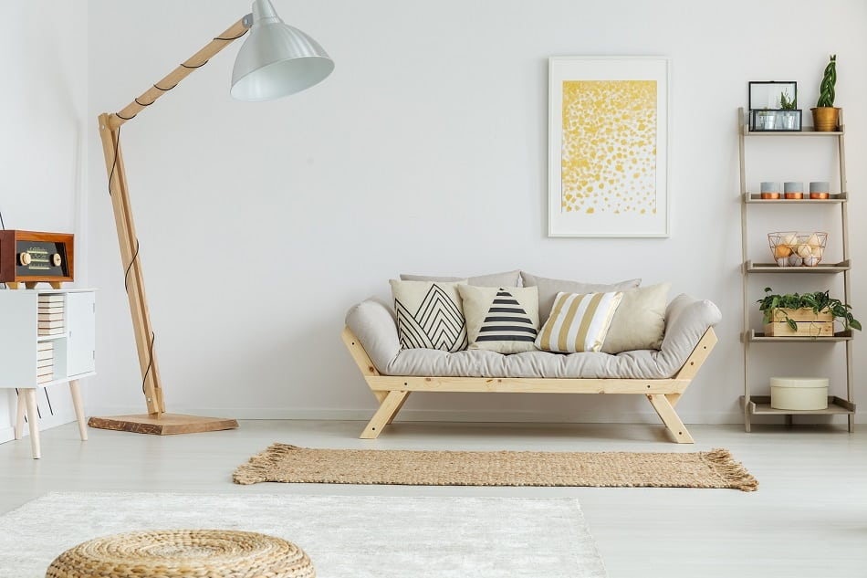 calm hygge living room