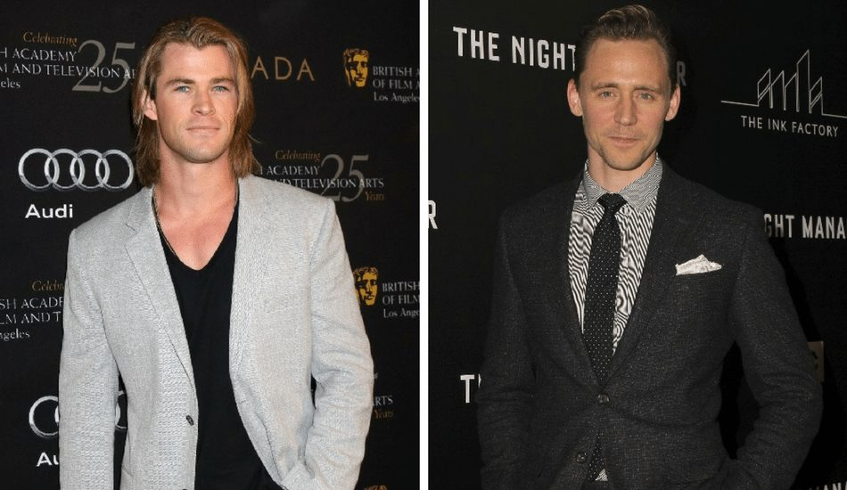 Chris Hemsworth and Tom Hiddleston