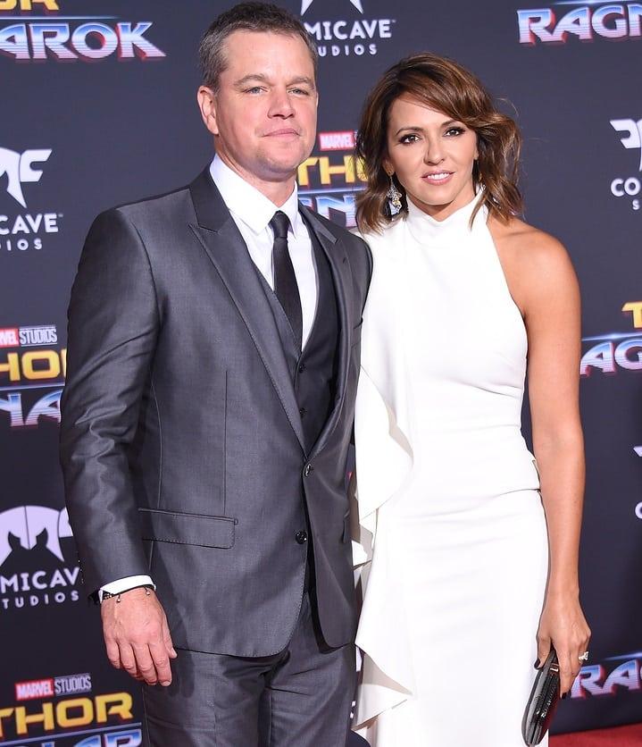 Matt Damon and Luciana